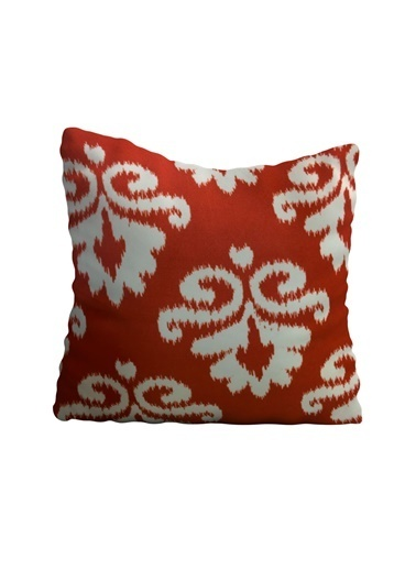 Lyn Home & Decor Kırmızı İkat Yastık Kılıfı 42X42 Renkli
